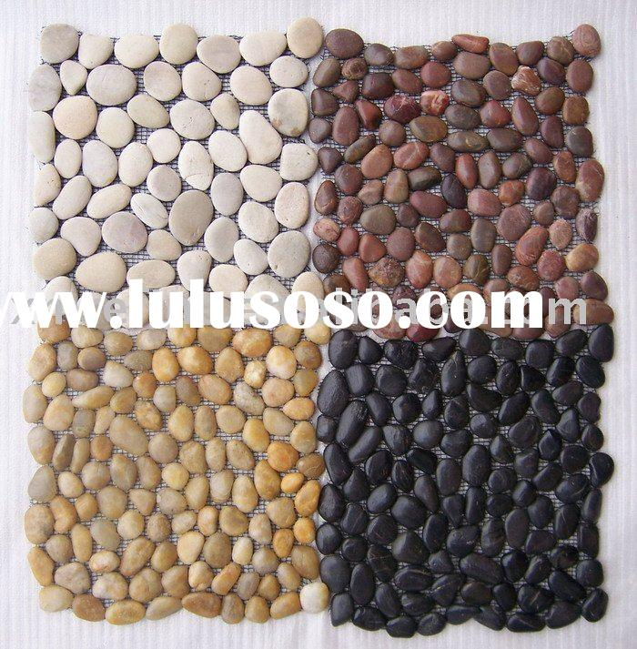 Stone pebble bath mat for sale price china manufacturer for River stone bath mat