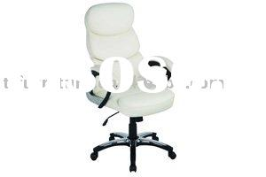 white leather  office chair