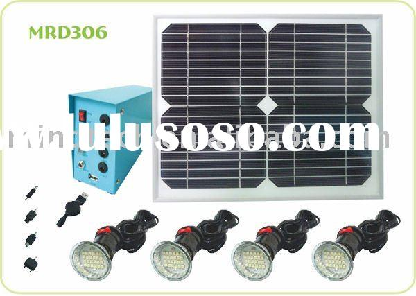 10W LED solar home light for 4pcs bulb & with USB to charge mobile