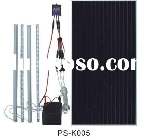 40W solar dc lighting kit with 4pcs 6W tube led lights