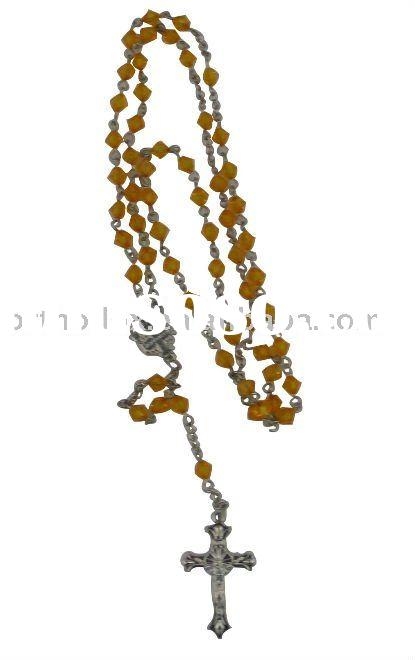 Acrylic beads rosary necklace