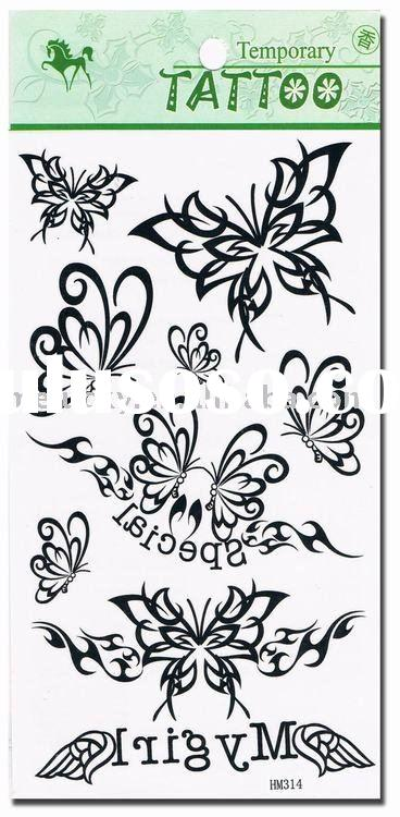 Black Butterfly tattoo sticker