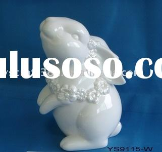 Ceramic easter rabbit decoration