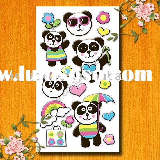China panda sponge sticker