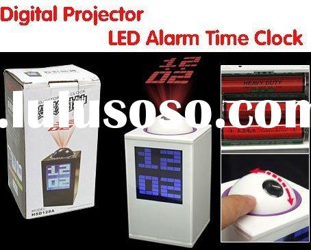 Digital Projector Ray LED Alarm Clock Time Projection