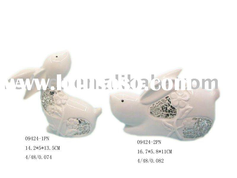 Easter decoration ceramic rabbit
