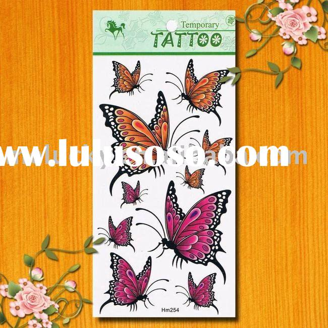 Flying butterfly temporary tattoo sticker