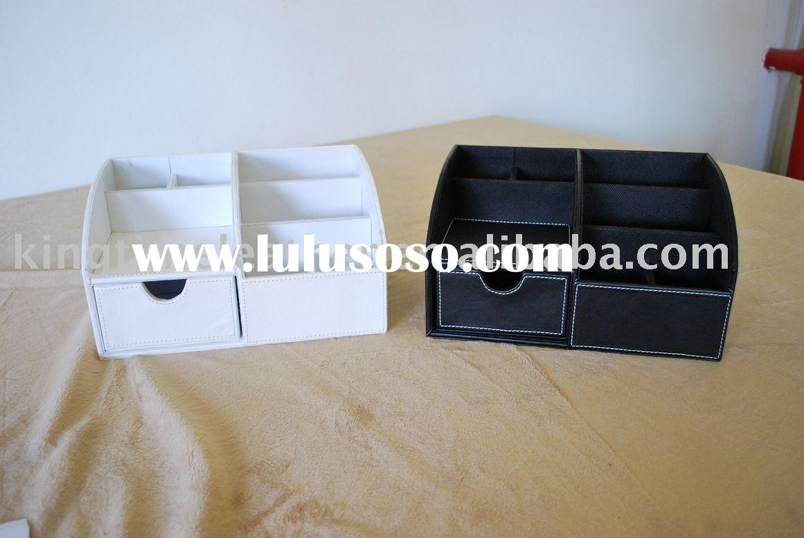 Leather multifunction sundries storage