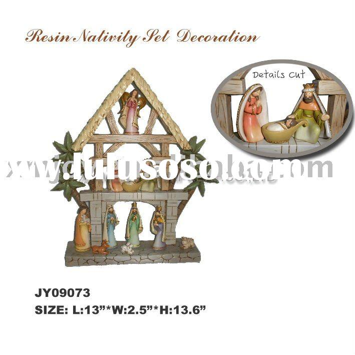 Resin Nativity set, religious gifts