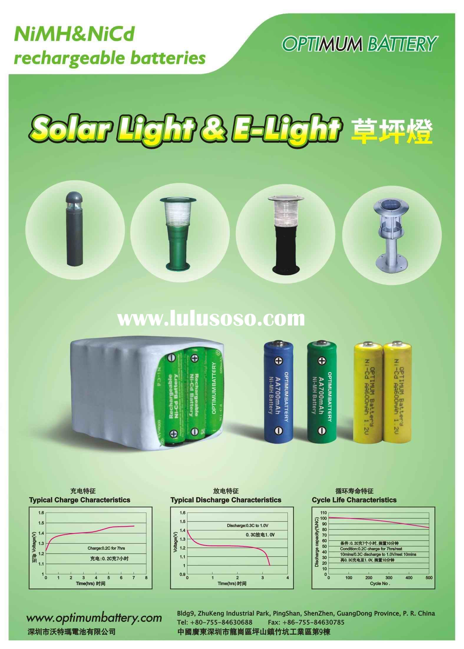 Solar Light and Lawn light Battery