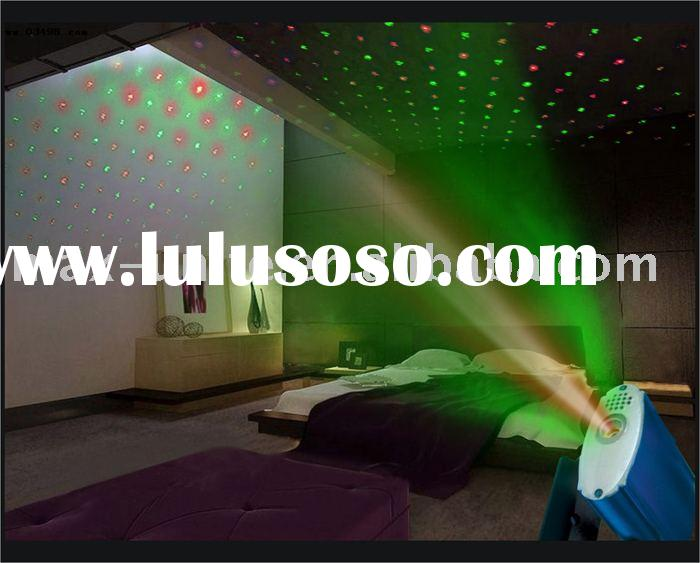 green and red mini laser light show for club