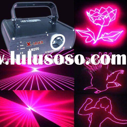 pink animation laser light