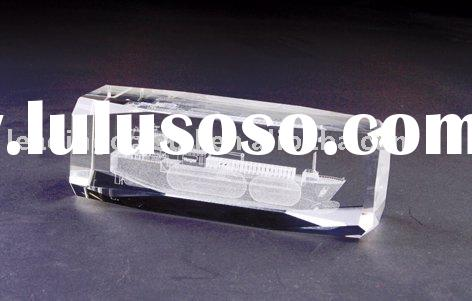 speacial 3D crystal boat