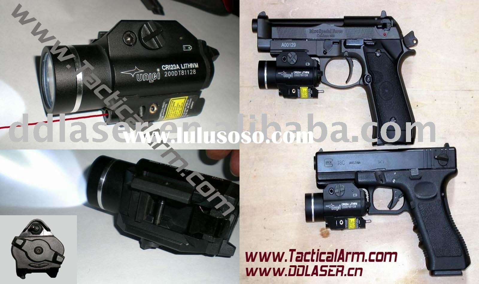 weapon light with red laser sight