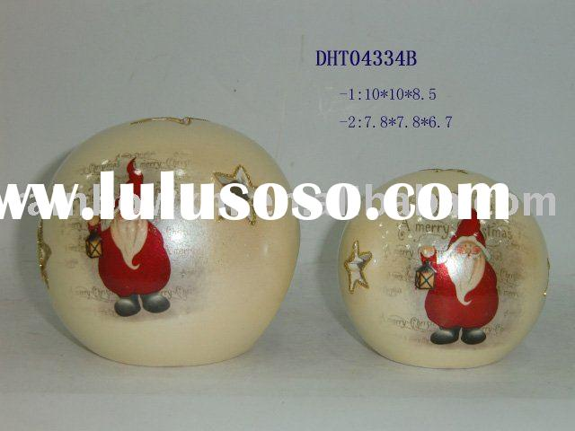 Christmas decal candle holder