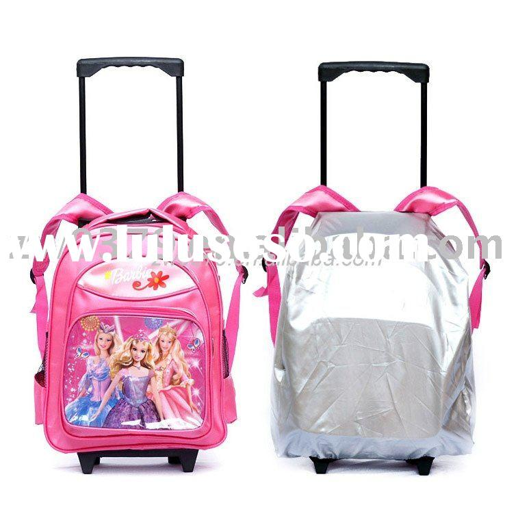 Economic Kids Trolley School Bags with Rain Cover-LSB 02