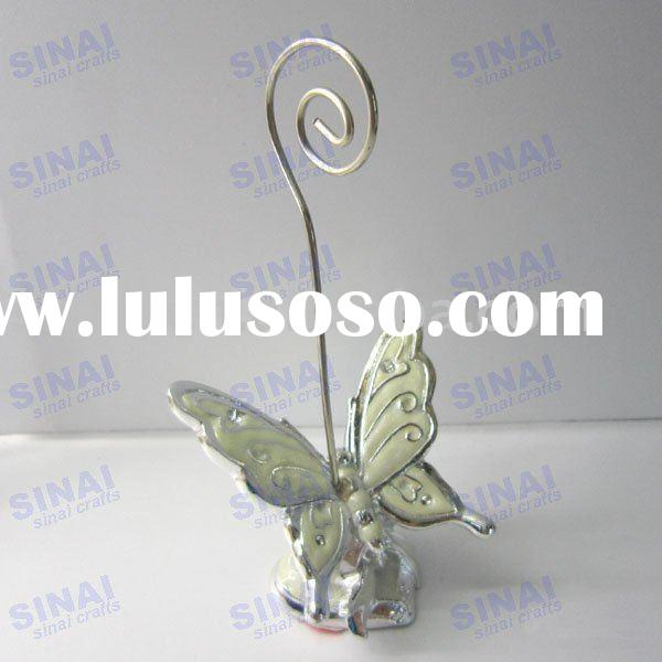 Ivory-white Butterfly Place Card Holder