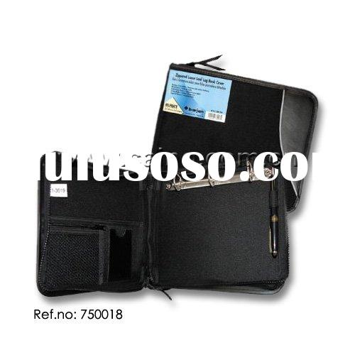 LOG BOOK 3 RING BINDER DELUXE, binder pocket,business card holder