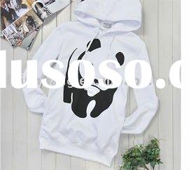 Lady's hot selling white thin hoodies