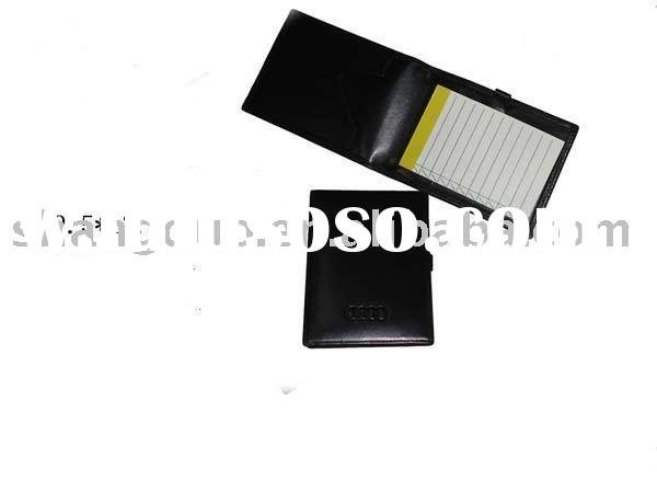 Leather Note Pad Memo Pad Jotter organizer