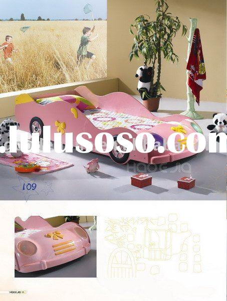 Lovely Style Pink Car Bed for Girls