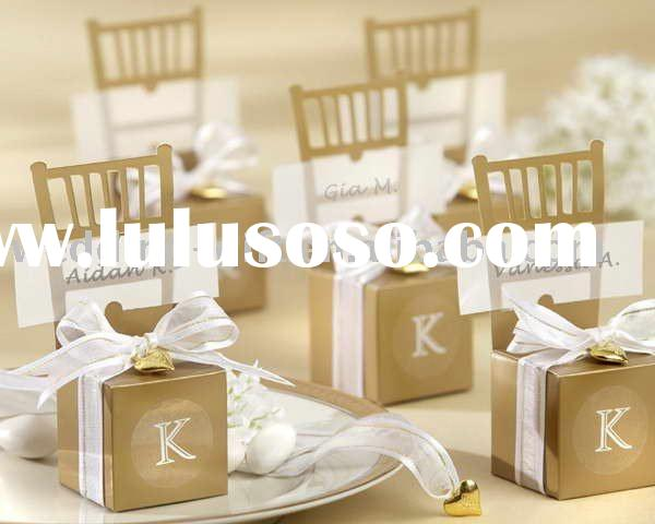 Party Supply of Miniature Gold Chair Favor Box