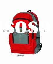 Red 600D adjustable strape Laptop backpack
