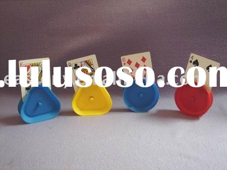 Round Shape Playing Card Holder Plastic
