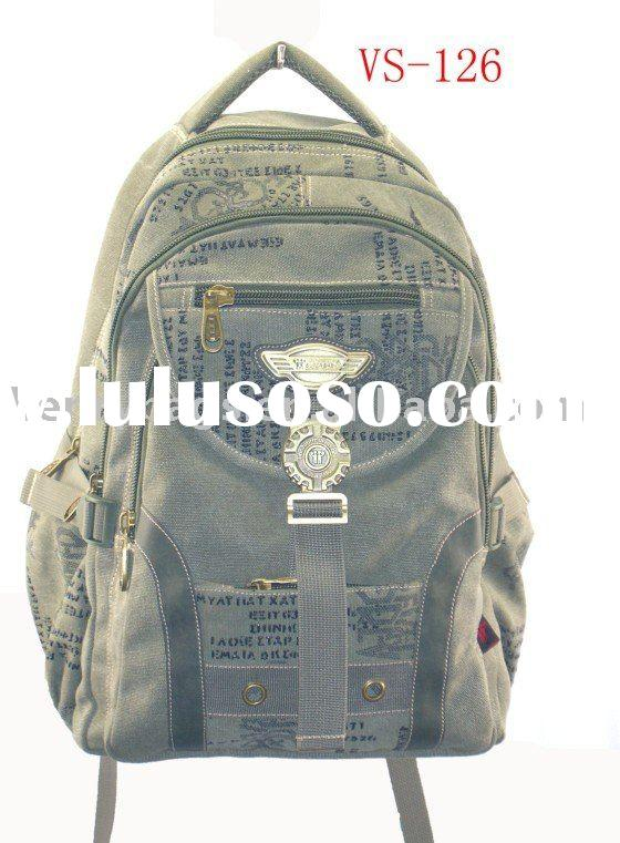 Travel hot sale fashion latest canvas laptop backpack