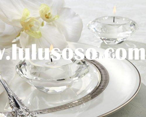 Wedding Favors/Crystal Diamond-Shaped Tea Light Candle Holder