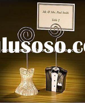 Wedding favor--Bride and Groom Place Card Holders