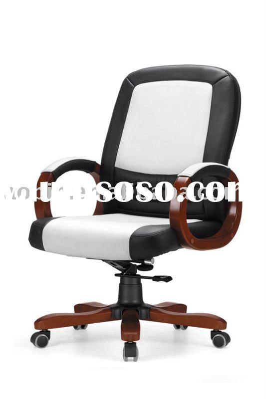 White-black Wooden Chair