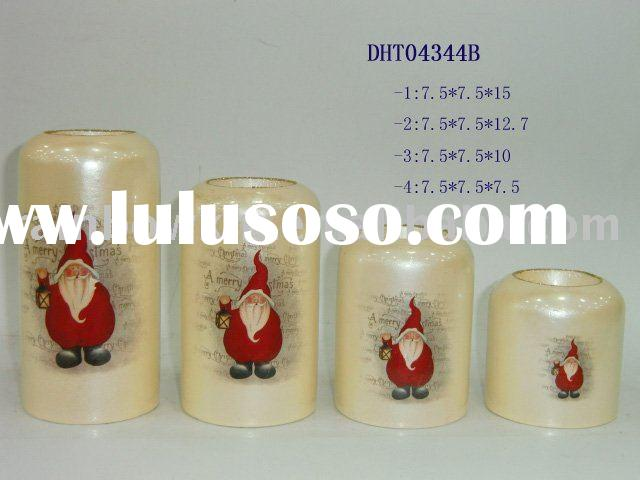 Xmas decal candle holder