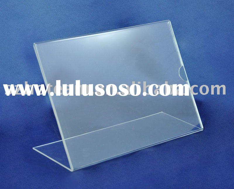 acrylic table card holder