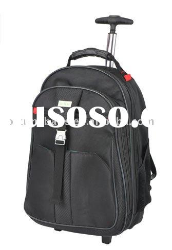 black 1680d 15 inch rolling laptop backpack