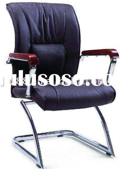 black pu leather visitor chair (J-D020-1)