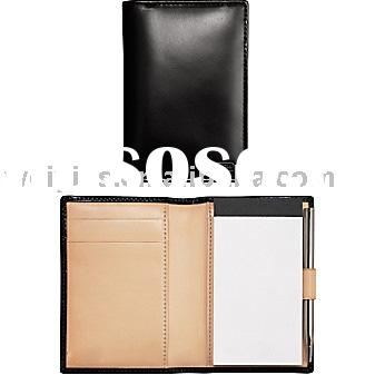 economic  leather coach notepad