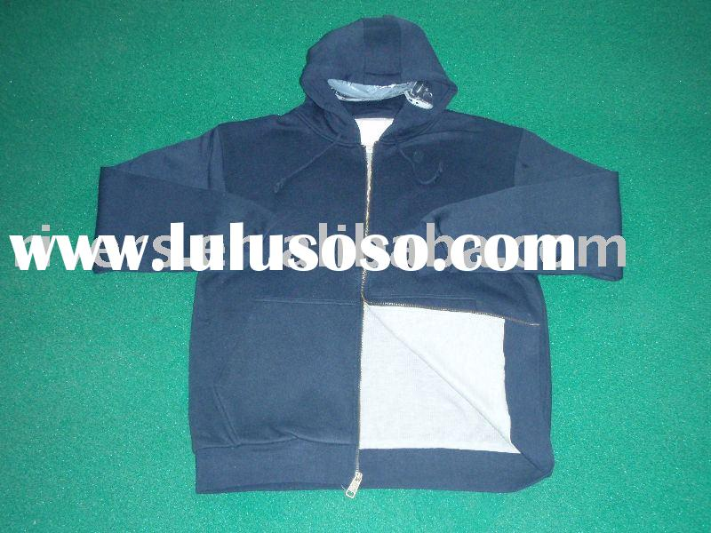 fleece hooded sweatshirt/jacket