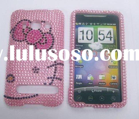 hello kitty Rhinestone Bling cover case for HTC EVO 4G pink