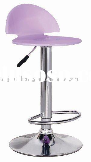 pink color acrylic desk chair