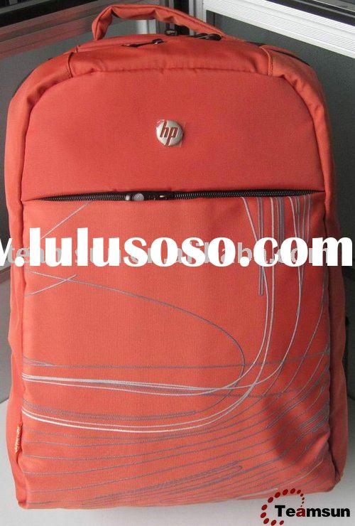 red fashion high quality canvas pc laptop backpacks