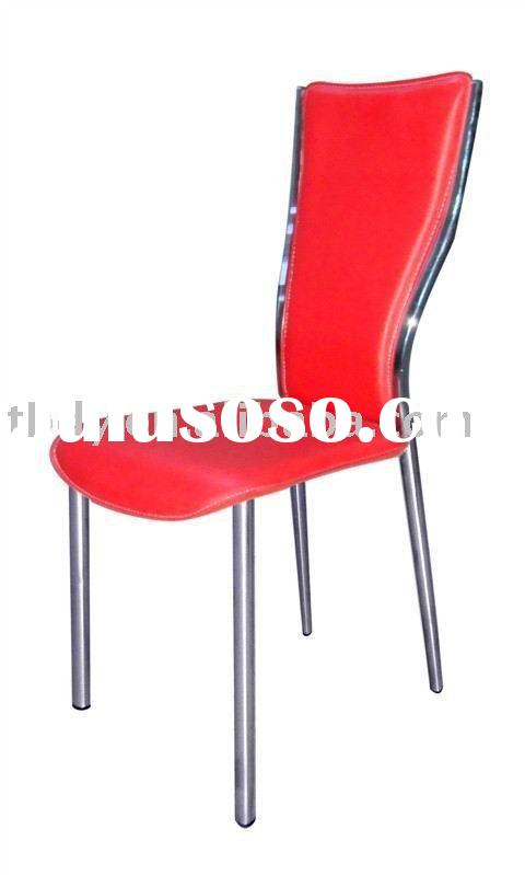 red hard leather leather chair