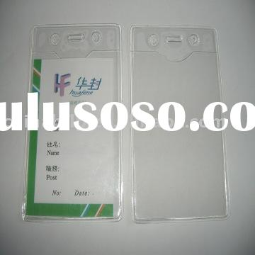 vertical badge id card holder
