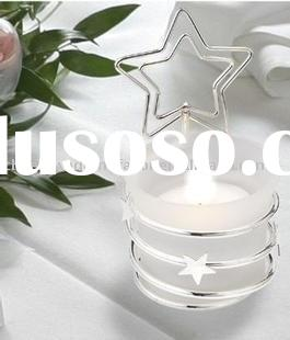 wedding favor--Heart Candle Placecard Holder/Place Card Holder