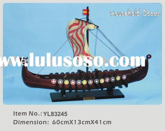 Hot sale bussiness craft gifts dragon boat wooden ship model