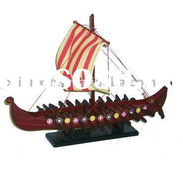 Hot sale house decoration wooden handmade ship model