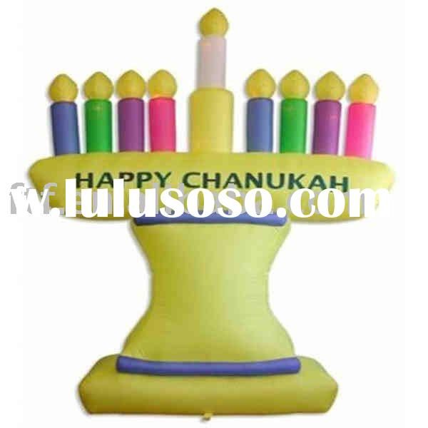 Inflatable festival Menorah/seven branch menorah/jewish candle holder/chandelier shades/judaica