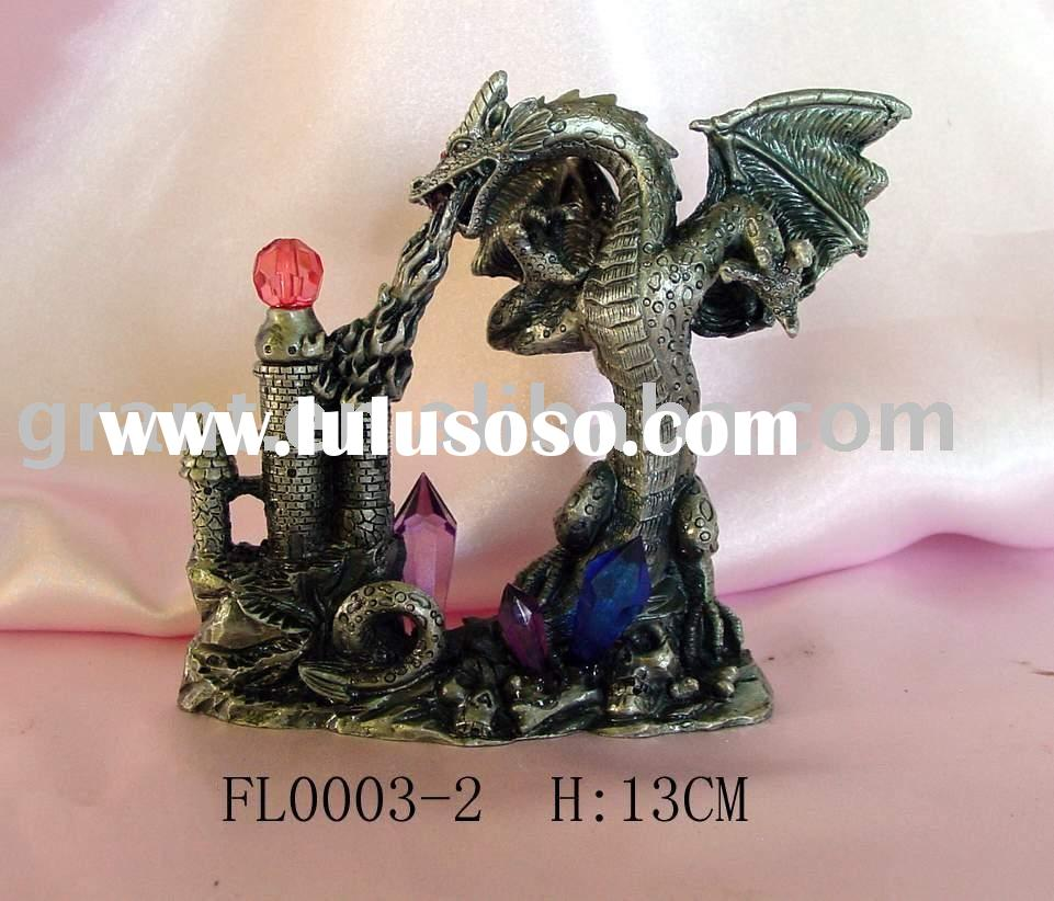 Metal dragon statue