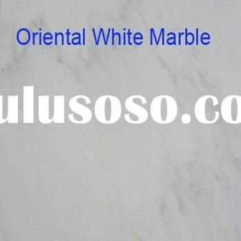 Oriental white marble floor design