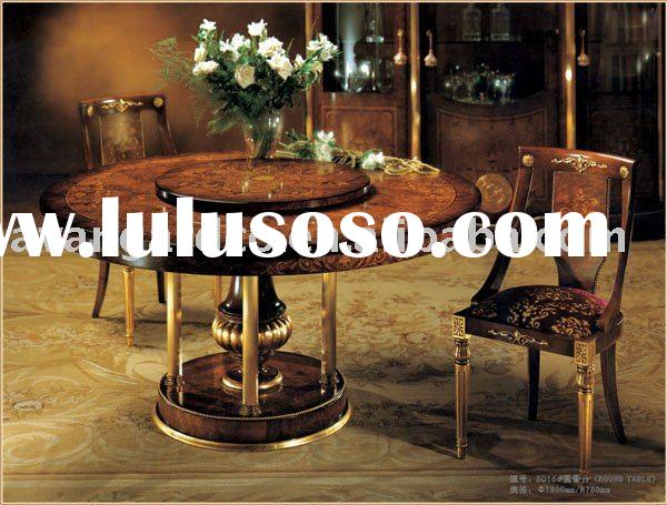 Royal Wooden Dining room Round table& chairs